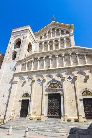 Building of Cagliari Cathedral (Cattedrale di Cagliari), Cagliari, Sardinia island, Italy