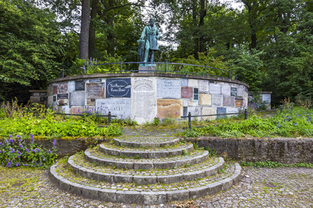 BERLIN, GERMANY - JUNE 28, 2014: Monument of Friedrich Ludwig Jahn, German gymnastics educator. Known as Turnvater Jahn (meaning
