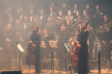 KYIV, UKRAINE - NOVEMBER 22, 2018: Symphony Orchestra (conductor Andrey Chernyi) and Choir
