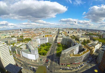 Panoramic aerial view of Berlin city, Germany.