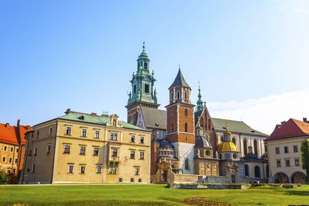 Wawel Royal Castle complex in Krakow, Poland. It is the most historically and culturally important site in Poland Фото со стока