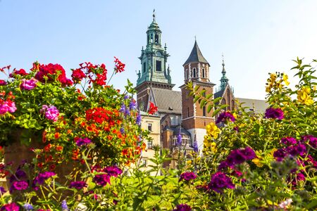 Summer view of Wawel Royal Castle complex in Krakow, Poland.