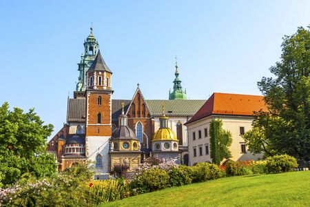 Picturesque view of Wawel Royal Castle complex in Krakow, Poland