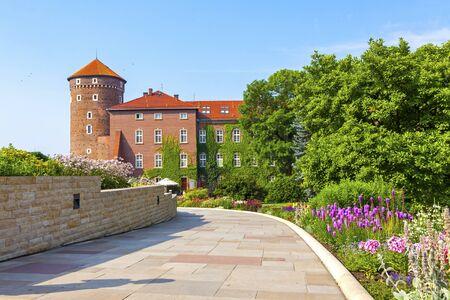 Sandomierska Tower, part of Wawel Royal Castle complex in Krakow, Poland.