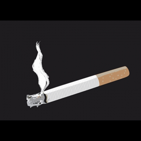 cigaret: cigaret on a black background with a smoke