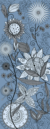 Beautiful summer flowers pattern illustration. Vettoriali