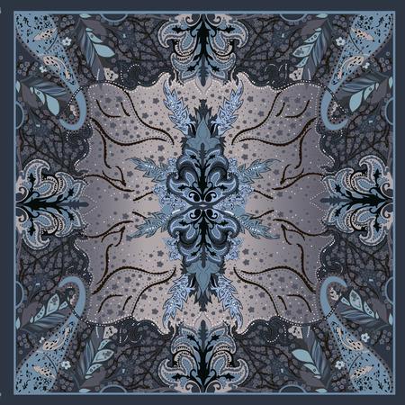 Beautiful riddle edge symmetry pattern illustration.