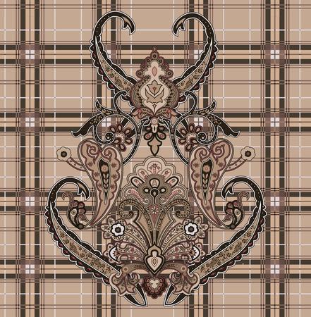 Beautiful ornament line pattern illustration. Иллюстрация