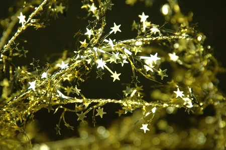 Sparkly golden stars Stock Photo - 10766475