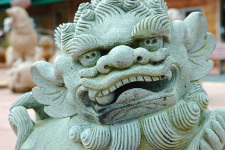A statue of a Chinese Dragon