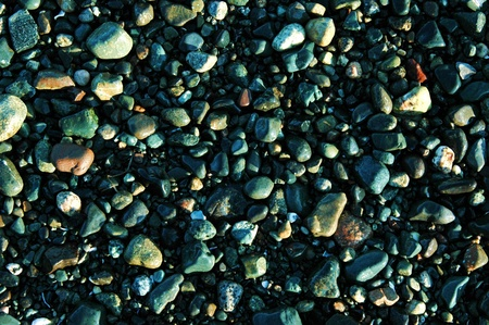 Ocean pebbles of various sizes and colors