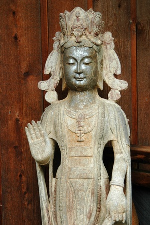 A stone statue of a spiritual deity Stok Fotoğraf