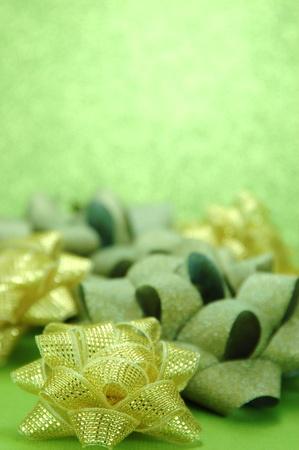 Shiny Holiday Bows Stok Fotoğraf