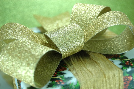 Christmas Gift Box with Golden Bow