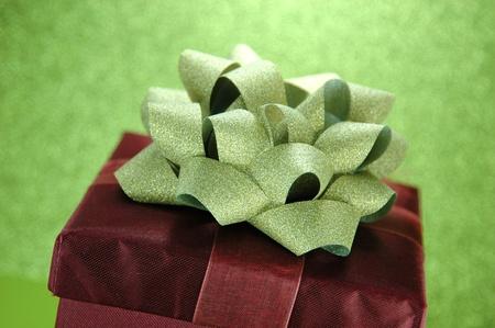 Elegant Red Gift Box Stok Fotoğraf