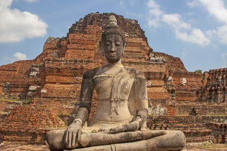Budda in Ayutthaya. Thailand history