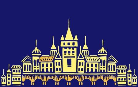 citadel: Night town illustration