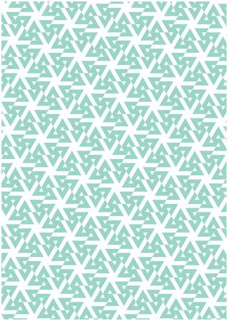 ブルーの幾何学的なパターン  イラスト・ベクター素材
