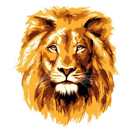 Большой огненный лев Иллюстрация