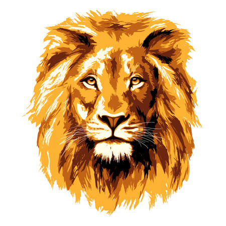 head icon: Big fiery lion
