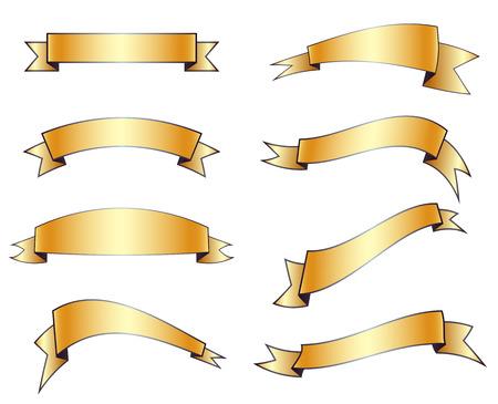 黄金テープ  イラスト・ベクター素材