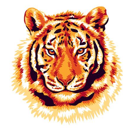 animales safari: tigre rojo