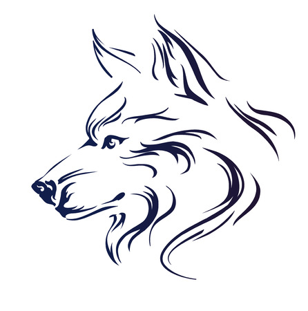 hunter: Wolf head vector illustration