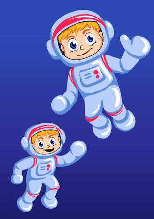 spaceman: Little spaceman illustration