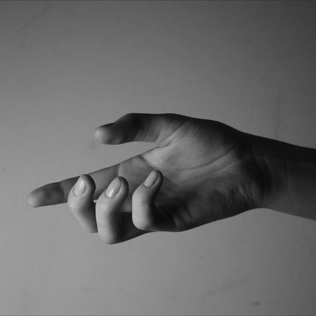 Hand black and white picture