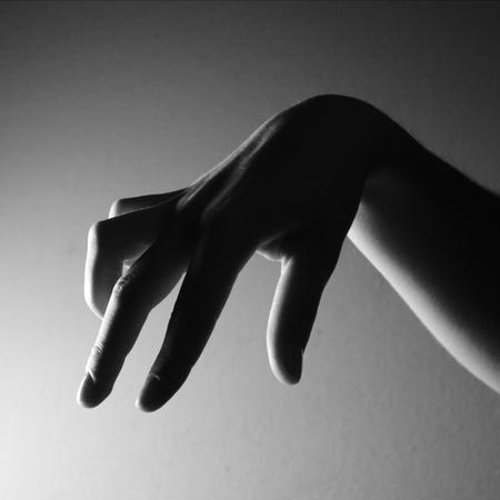 黒と白の手画像