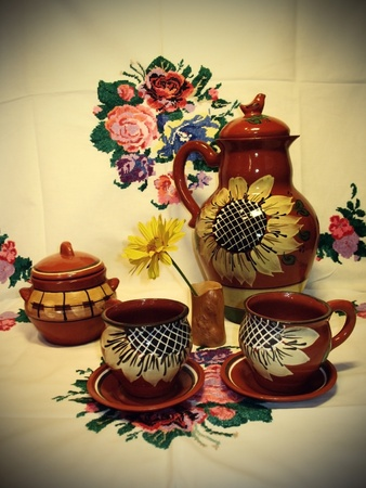 still life in russian country style photo