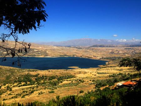 lebanese: Lebanese landscape, Bekaa Valley Beqaa Bekaa Valley, Baalbeck, Lebanon Stock Photo