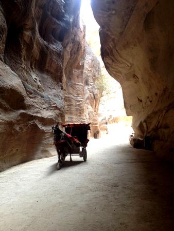 petra  jordan: The Siq in Petra, Jordan