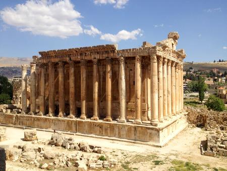 bacchus: Temple of Bacchus, Baalbek, Lebanon, Middle East Stock Photo