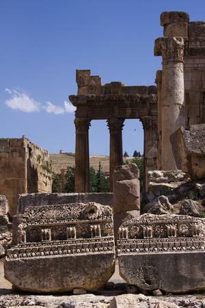 heliopolis: Baalbek, Lebanon, Middle East. Baalbek, Lebanon, Middle East - is a town in the Beqaa Valley of Lebanon. Known as Heliopolis during the period of Roman rule, it was one of the largest sanctuaries in the empire and contains some of the best preserved Roman