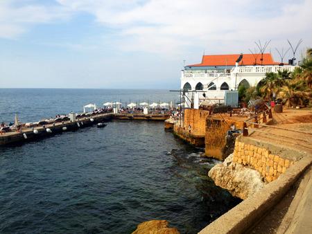 lebanon beach: Coastline and corniche of beirut lebanon.