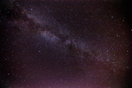 astrophysics: Night sky with Milky way. Starry sky over the mountains, photo taken at 2000 m Lebanon: the Milky Way, our galaxy.