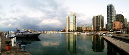 lebanon beach: Beirut, Lebanon - June, 26, 2015: A view of the beautiful Marina in Zaitunay Bay in Beirut, Lebanon.