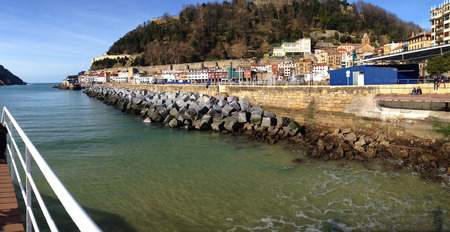 southern european descent: San Sebastian harbour, Basque country in Spain