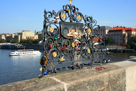 charles bridge: Nepomuk, Charles Bridge, Prague, Czech Republic Stock Photo