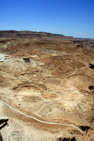 hebrews: Masada ruins are historical places in Israel