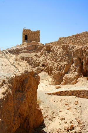 hebrews: Masada ruins - historical place in Israel Stock Photo