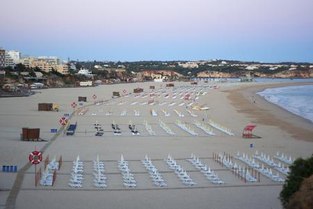 rocha: On the famous beach Praia da Rocha in Portimao, Algarve Province in Portugal. Atlantic ocean is on the background Stock Photo