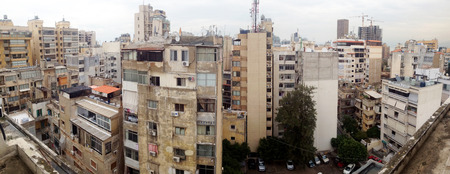 beirut: Beirut cityscape, Lebanon. Panoramic view over Beirut, Lebanon