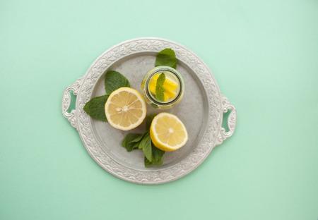 Flat lay of lemonade ingredients.