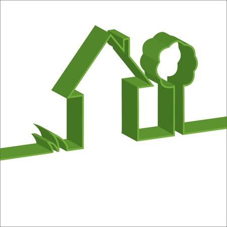 3D vector eco house Stock Vector - 17021271