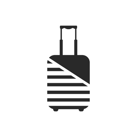 Logo of luggage wrapped by protective coating