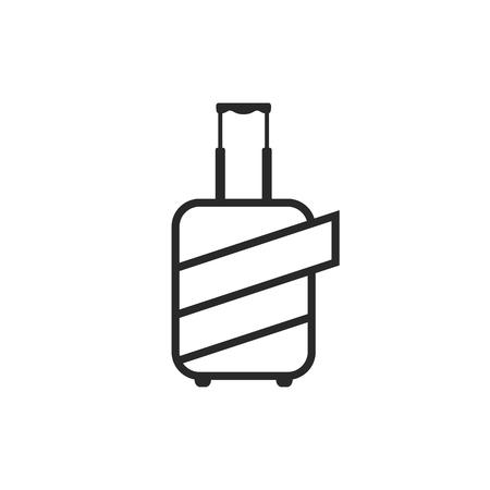 保護コーティングで包まれた荷物のロゴ  イラスト・ベクター素材