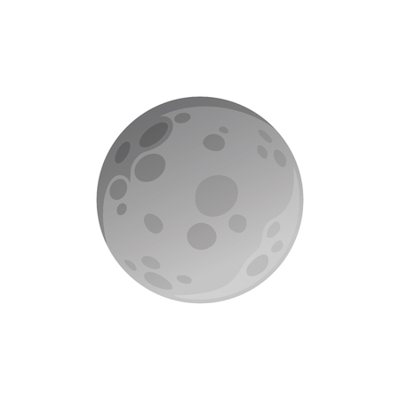 Isolated moon made in flat style