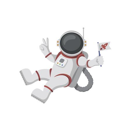 Astronauta isolado no fundo branco
